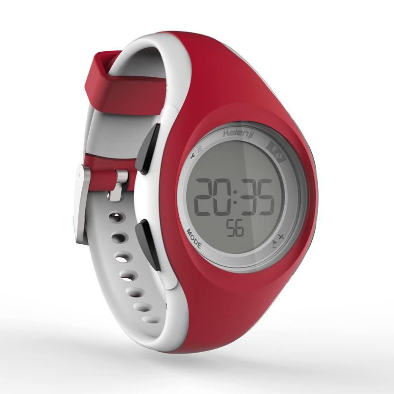 Reloj digital de deporte mujer y niños W200 S temporizador rojo blanco