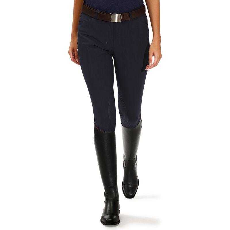 Pantalón equitación mujer BR500 badanas Azul marino - Decathlon b452b9c6f205