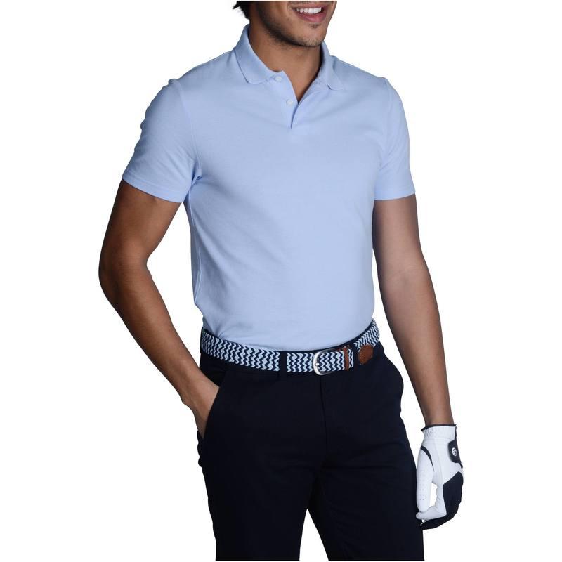 ... Polo de golf hombre manga corta 100 tiempo caluroso azul cielo ... 059d5289f41eb