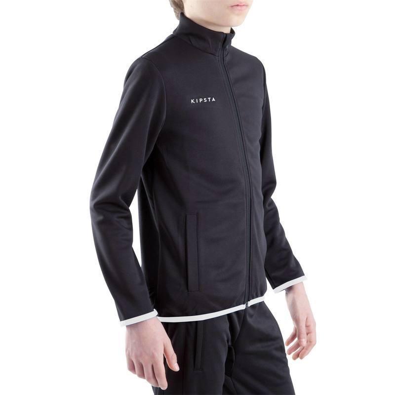 Chamarra de entrenamiento de fútbol para niños T100 negro - Decathlon 3b0a907d97bfd