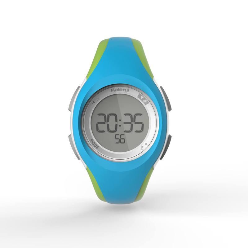 e54732f44c1d Reloj deporte dama y junior W200 S temporizador azul y verde - Decathlon