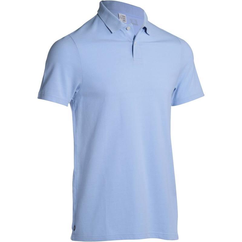 Polo de golf hombre manga corta 100 tiempo caluroso azul cielo ... 73ef3e5cf6091