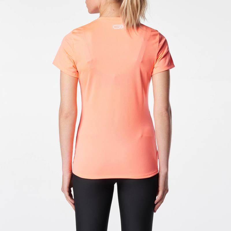 TEE SHIRT JOGGING FEMME RUN DRY CORAIL - DECATHLON TUNISIE 744a314b5f3