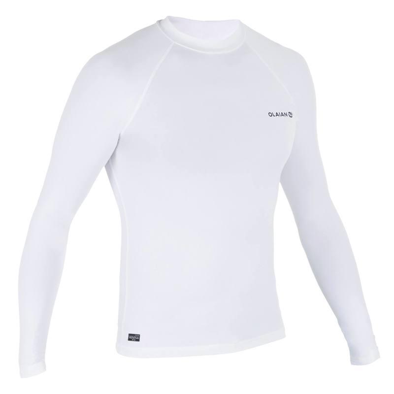 8c4dd0fed2a7 tee shirt anti uv surf top 100 manches longues homme blanc ...