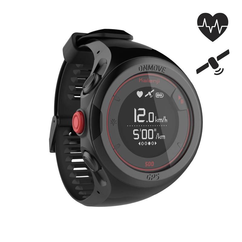 nuevo producto c030c 75246 Reloj GPS monitor cardíaco de muñeca para running ONMOVE 500 negro