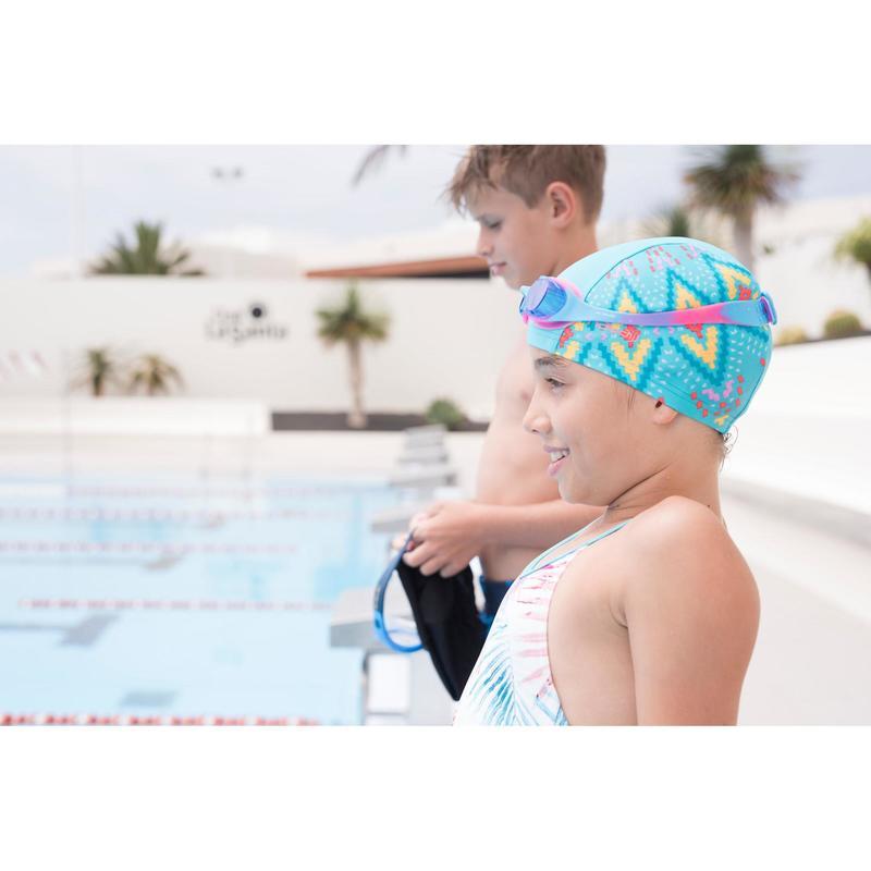 Gorro de natación punto estampado talla S Etnic azul - Decathlon 3787e8ab845