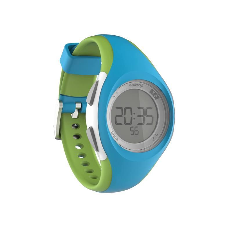 f9d888758ef2 Reloj deporte dama y junior W200 S temporizador azul y verde - Decathlon