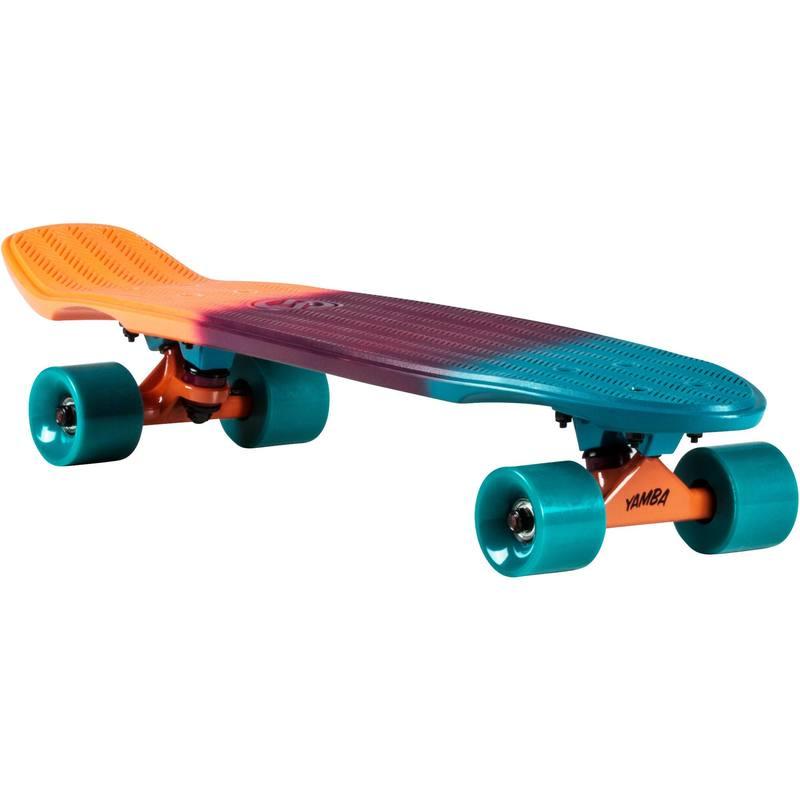 Cruiser Skateboard BIG YAMBA gradiant Coral Azul - Decathlon 7218b3b9c68