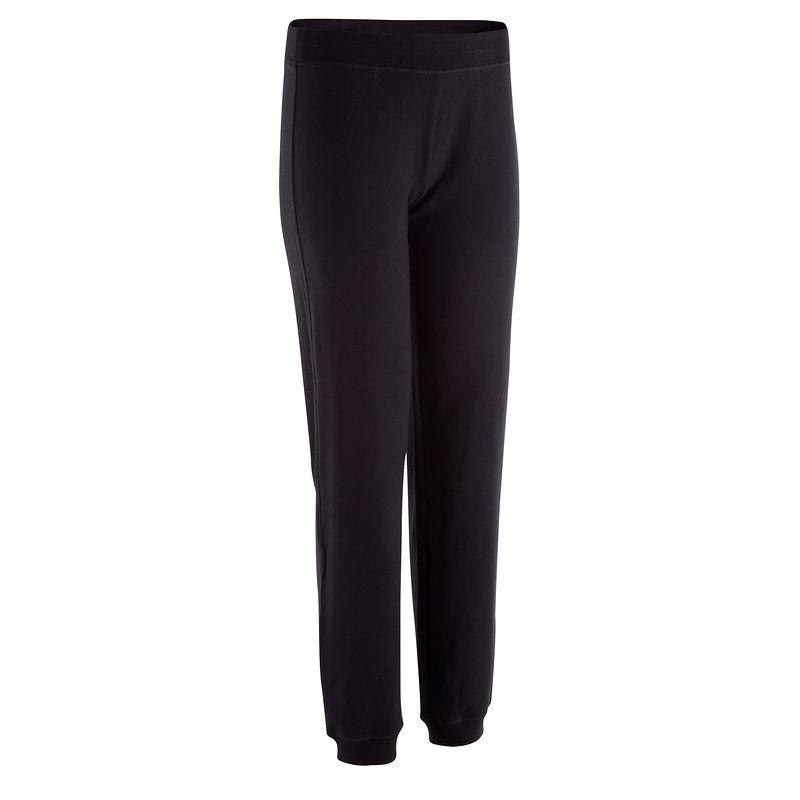 Pantalón ajustado fitness negro dama - Decathlon beb463fc16df