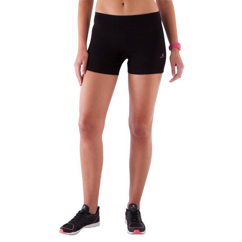 auténtico niño diseño moderno Short corto FIT+ slim, fitness mujer, negro
