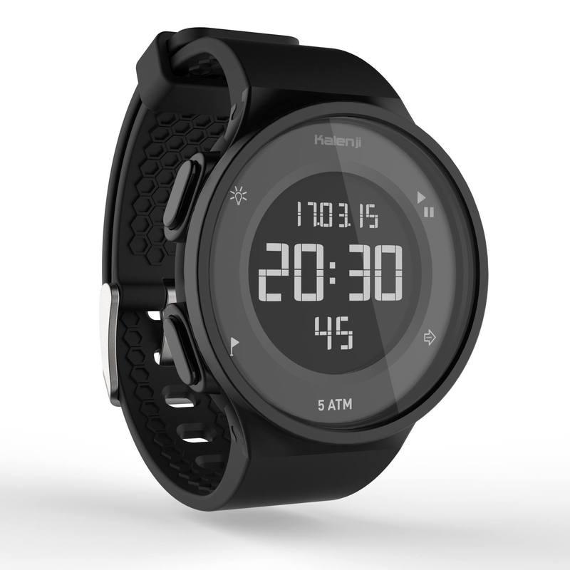 Reloj deportivo temporizador para hombre W500 M SWIP negro