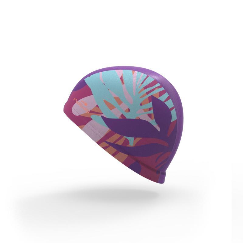 Gorro de natación punto estampado talla L Pie rosa - Decathlon ce812684eec