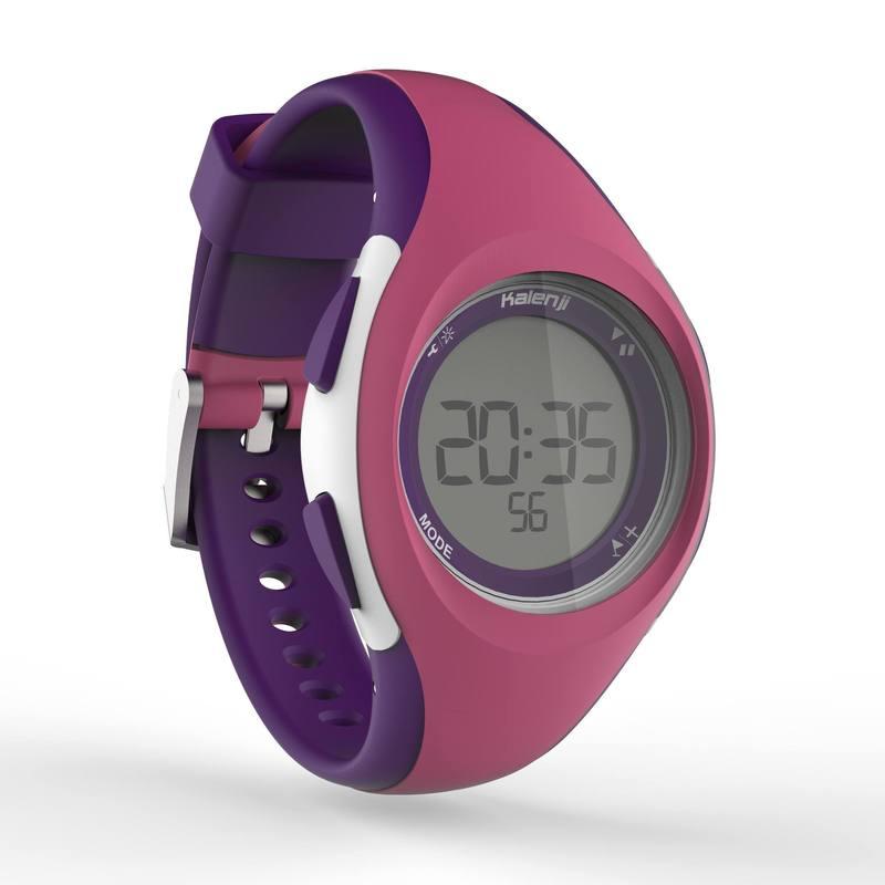Reloj sport dama y junior W200 S temporizador rosa y morado - Decathlon 460250ab7d0