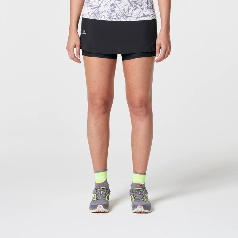e58012f862c Jupe short trail running noir femme - DECATHLON TUNISIE