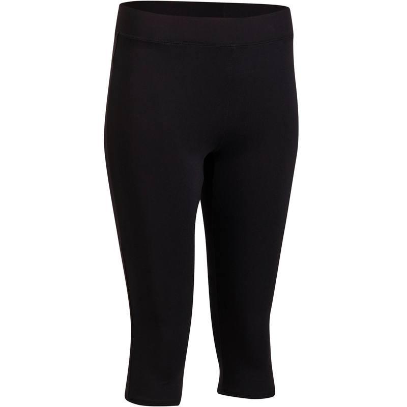 c60956a4b4b Mallas 3/4 para fitness cardio mujer negro 100 Domyos - Decathlon