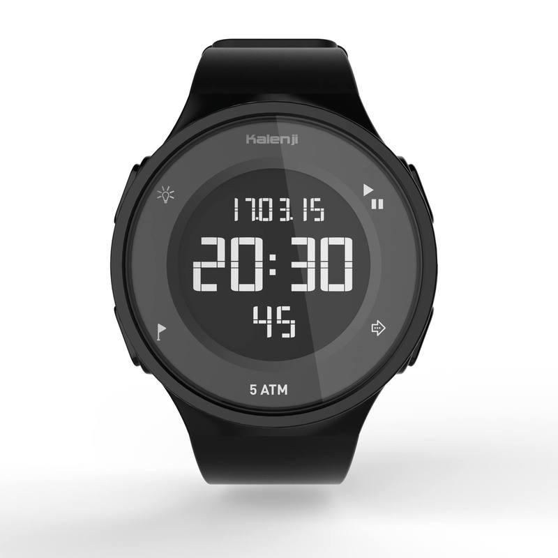 Reloj deportivo temporizador para hombre W500 M SWIP negro - Decathlon e3cfec624aa3