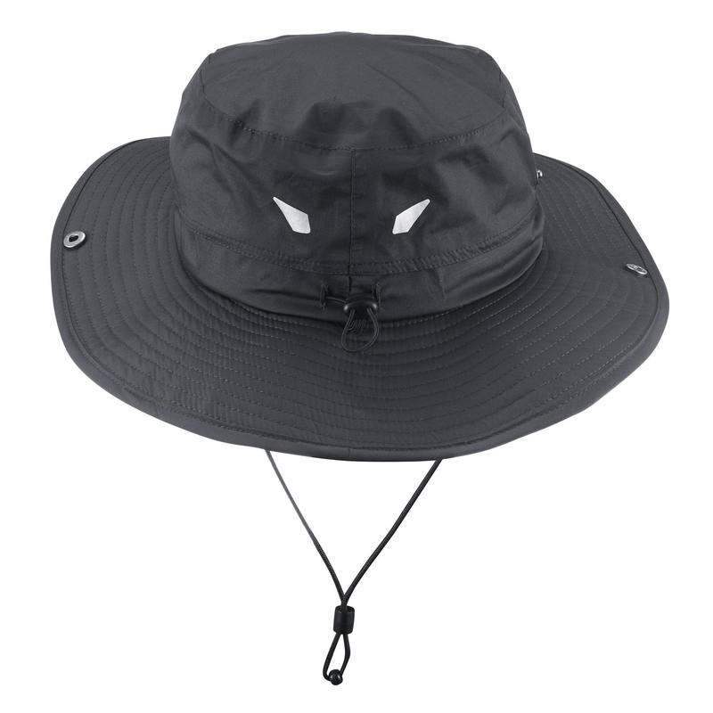 Sombrero impermeable campismo Forclaz 900 Rain gris oscuro - Decathlon 20e80c4e489