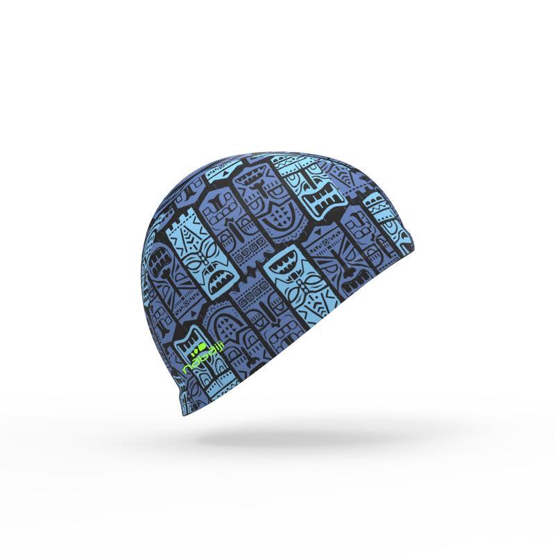 Gorro de natación punto estampado talla S Tiki azul - Decathlon eb6c16a0ebc
