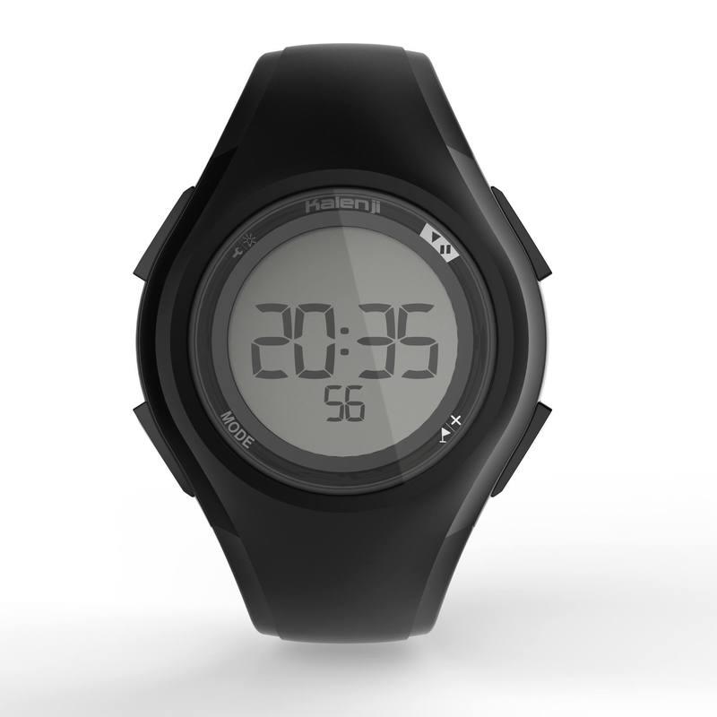 Reloj deporte hombre W200 M temporizador negro