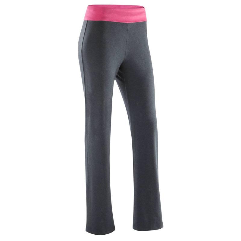 Mujer Biológico Yoga Gris De Moteado Algodón Rosa Cultivo Pantalón Y6yb7vgIf