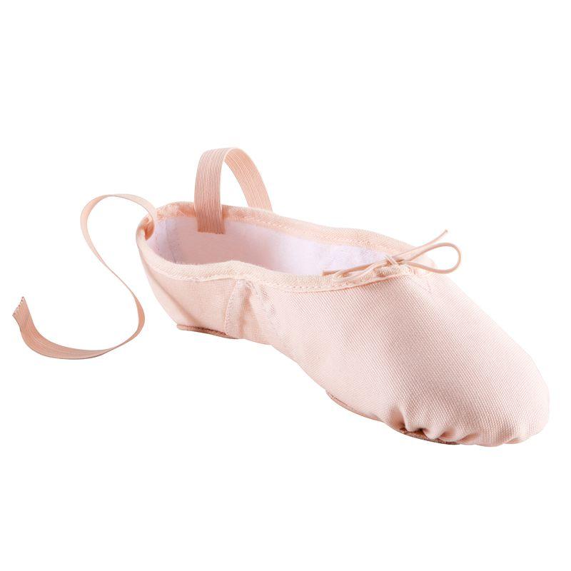 Zapatillas de ballet con puntas de tela y doble suela. Color salmón ... 27d7bf708ee